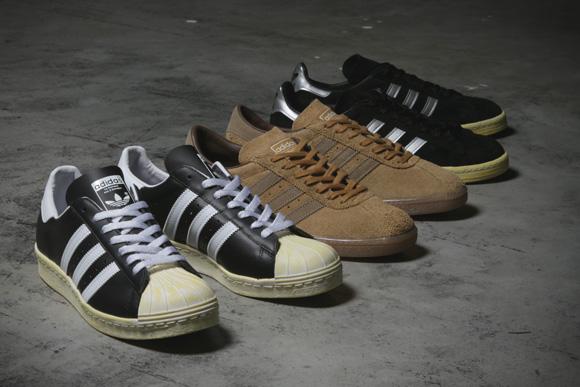 adidas Originals x mita sneakers 2013 collaboration: campus 80s, superstar 80s, tobacco