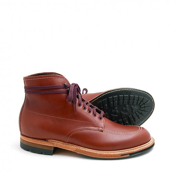 Alden x Leffot 405C contrast stitch moccasin boot