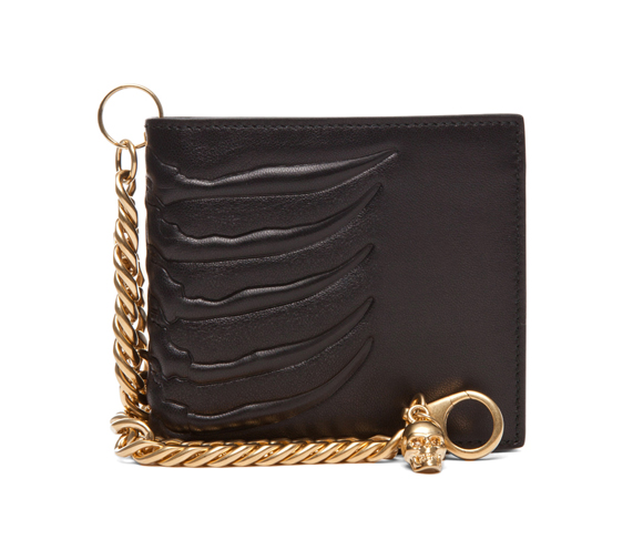 Alexander McQueen Ribcage Chain Wallet in Black