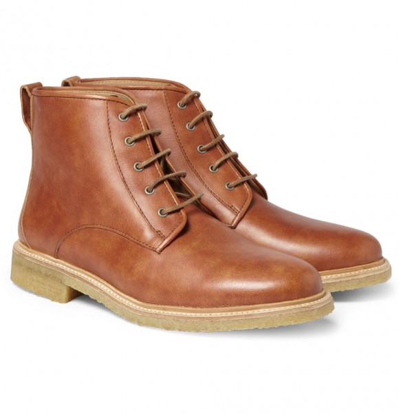 A.P.C. Crepe Sole Leather Boots