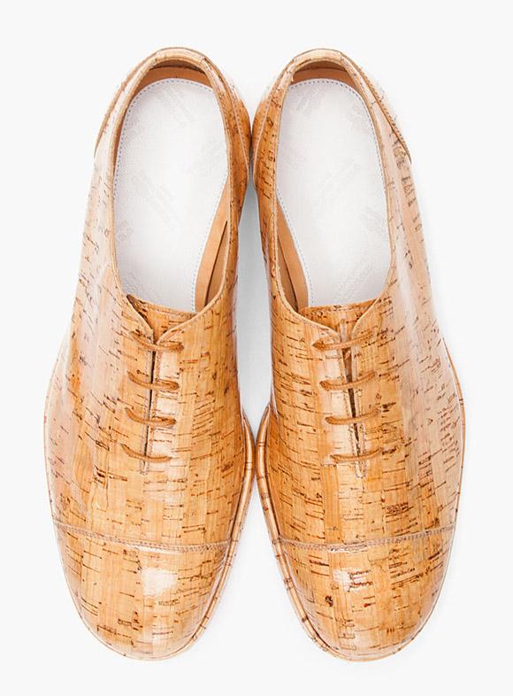 Better Than LeBron Cork Maison Martin Margiela 'Tan Varnished Cork' Oxford Shoes