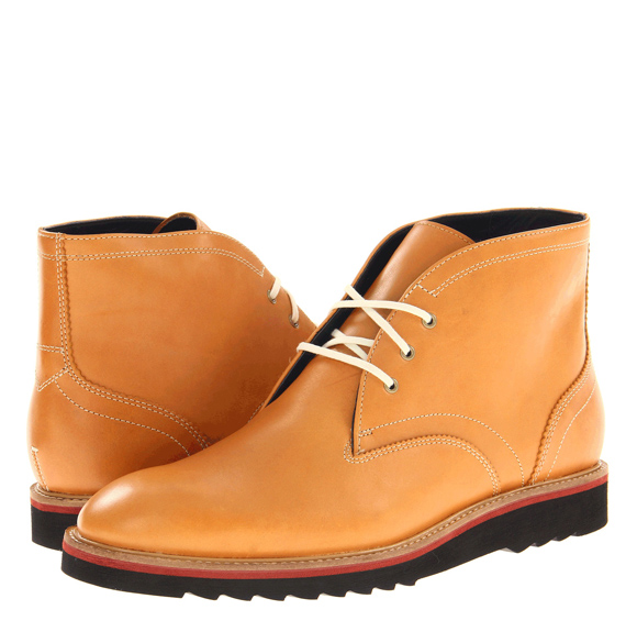 contrast stitching contrast laces, ripple sole Cole Haan Air Morris Chukka desert boots