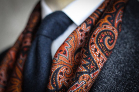 Gieves & Hawkes Silk, Wool & Cashmere Scarf