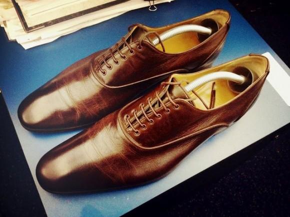 Hermès Leather Lace-Up Oxford Shoes Menswear