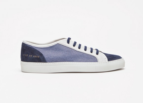 Herringbone Panel Suede Mix Common Projects Tournament Low