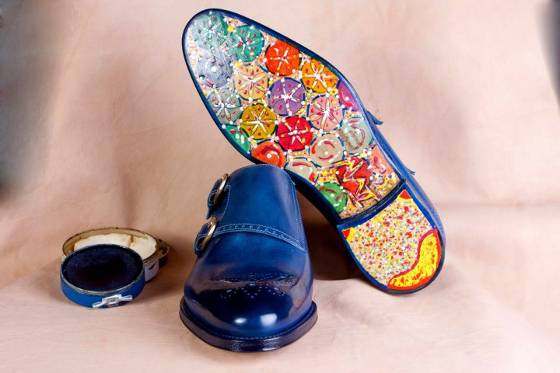 Ivan Crivellaro 60s hippie flower sole expensive double monk