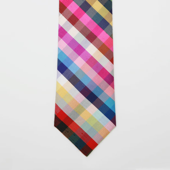 J.Press Easter Tie Colored Squares