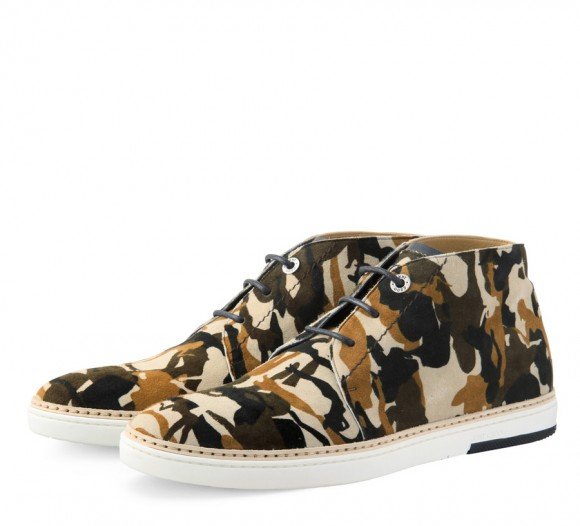 Expensive Shoes, Jimmy Choo light brown camo print desert boot ss13