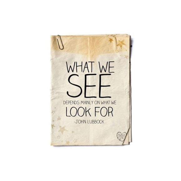 John Lubbock 'What we see depends mainly on what we look for' Custom Notebook/Scrapbook