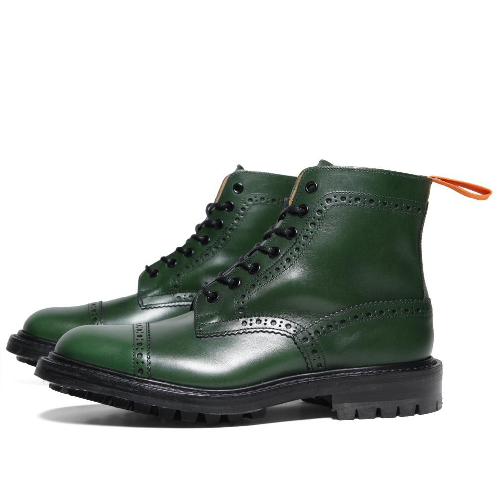 A Sophisticated Green Cap Toe Brogue Boot