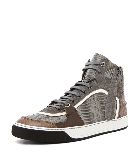 Celebrating Year of the Snake with Snake Skin Sneakers Lanvin Mid Top Sneakers