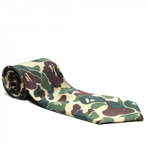 Mr. Bathing Ape BAPE Multi Camo 9cm Tie in Green