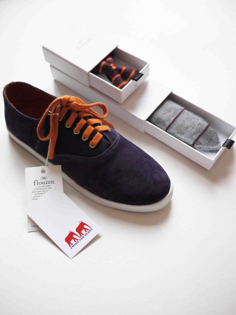 flouzen x Twins for Peace Saddle Sneaker with Colored Laces