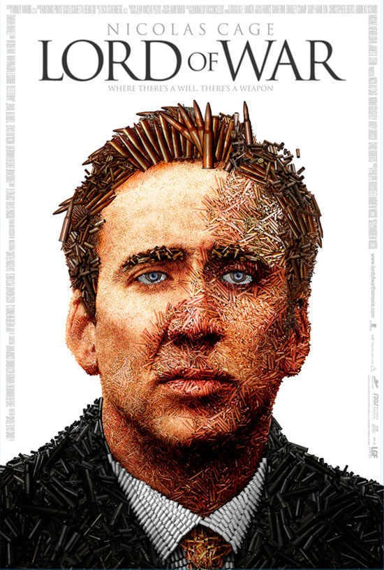 Nicholas Cage Lord of War Illustrated Poster with Bullets