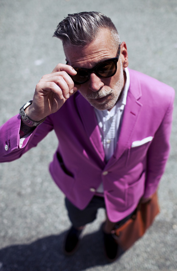 No Shame in Pink - Nick Wooster Street Style - SOLETOPIA