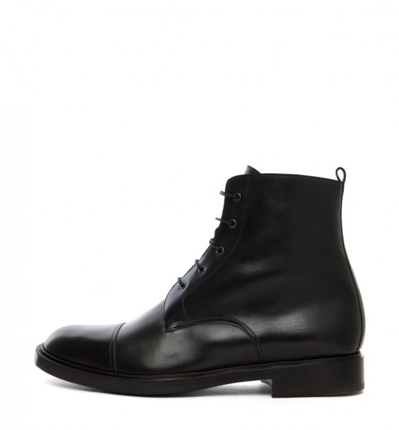 Pierre Hardy Simple Black Cap Toe Lace up Boots