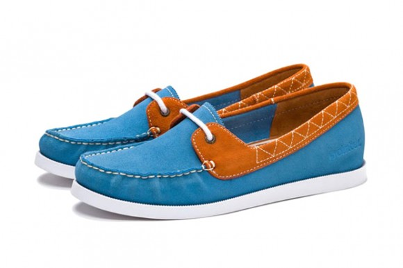 Pointer Suede one-eye boat shoe