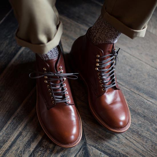 Polished Rust Boots, Lace Them Up