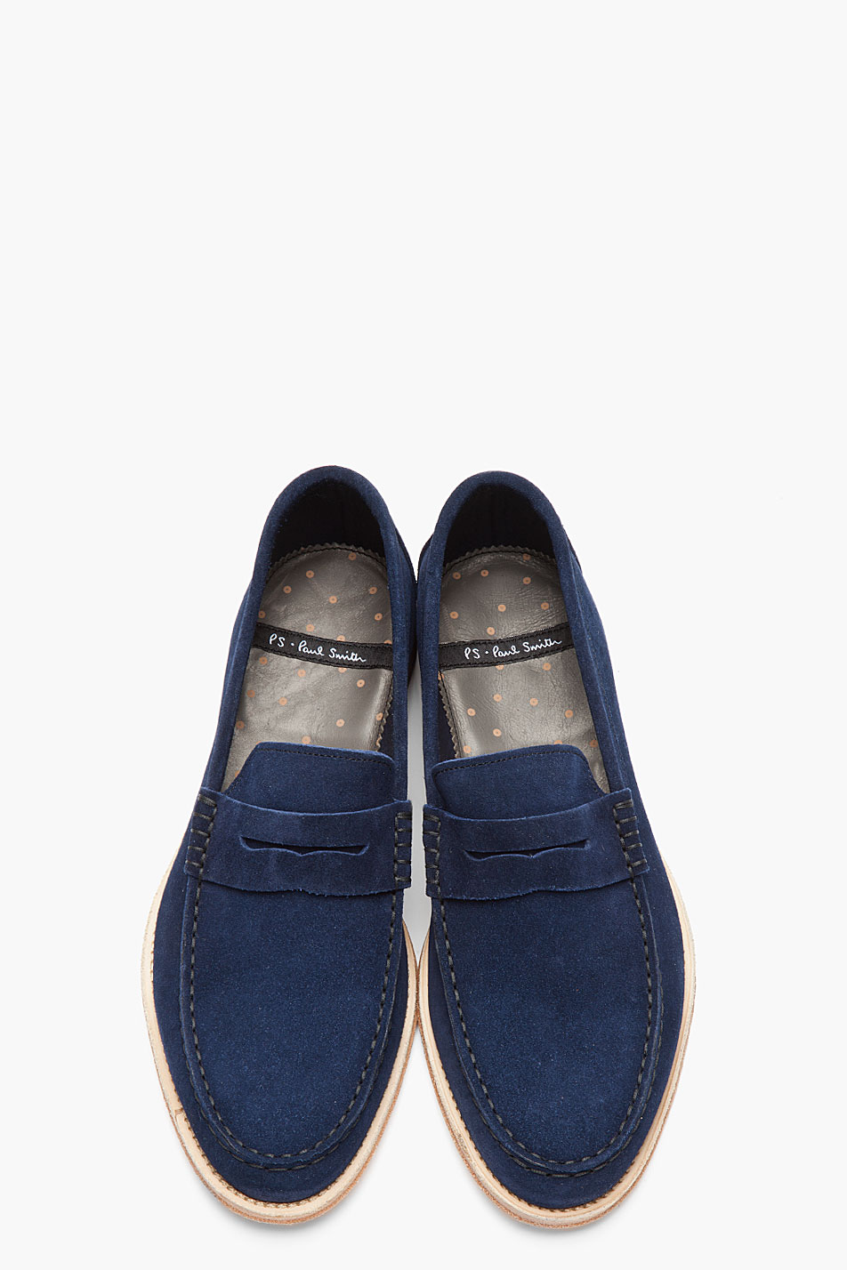 PS by Paul Smith Navy Suede Amalfi Nappato Penny Loafers 3
