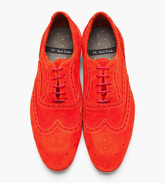 PS by Paul Smith Red Dip Dyed Suede Wingtip 'Miller' Brogues