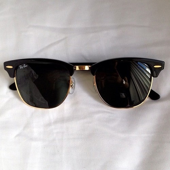 Ray Ban Class Gold Trim Clubmaster Sunglasses