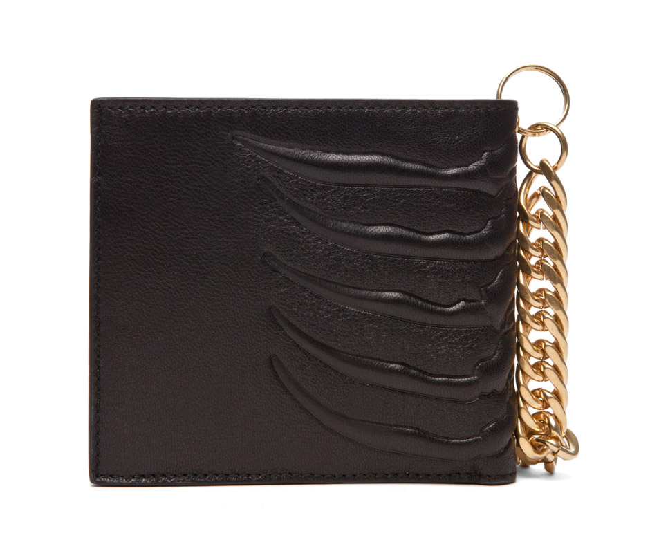 Alexander McQueen Ribcage Chain Wallet in Black