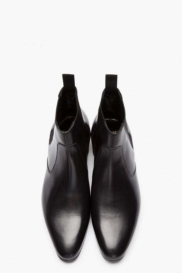 Saint Laurent Black Leather Chelsea Billy Boots
