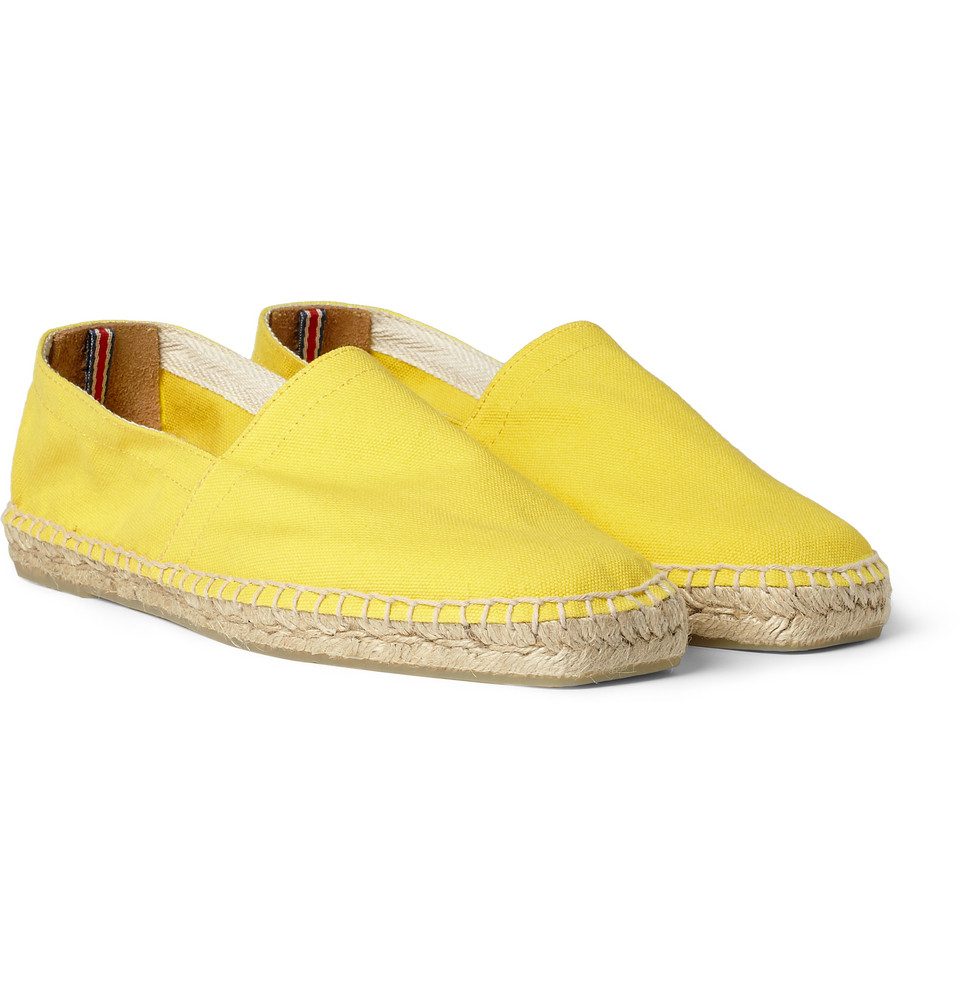 the shoes for summer pablo espadrilles in yellow canvas