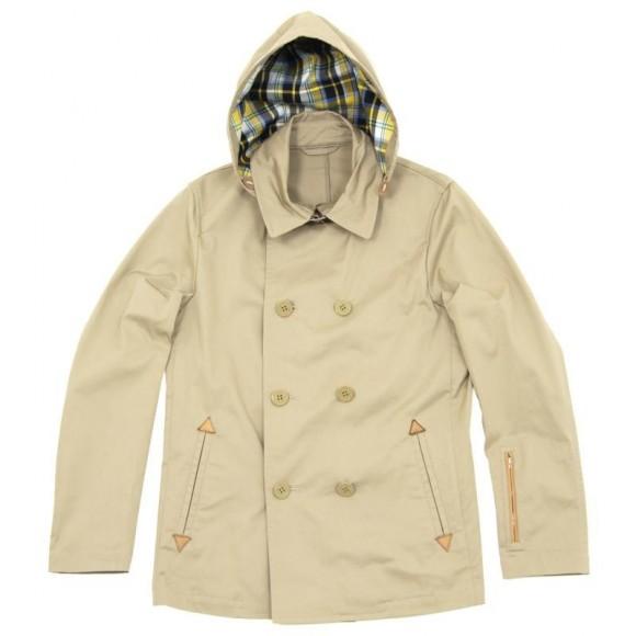 Hooded Pea Coat ($860 USD) from SOPHNET.