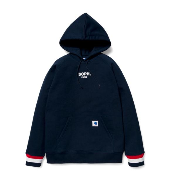 SOPHNET. x Carhartt WIP 2013 Capsule Collection navy hoodie