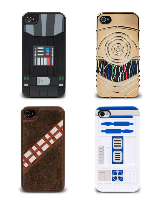 Star Wars Cases for iPhone 4 & 4s - Darth Vader, C-3PO, Chewbacca & R2-D2