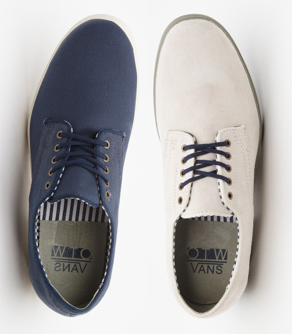 98c80667543d42 Vans Military Pritchard White Suede Casual Formal Shoes