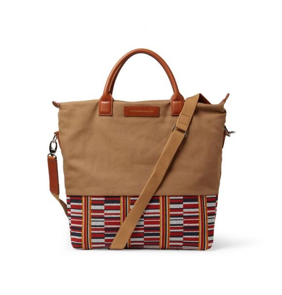 Want les Essentiels de la Vie O'Hare Canvas Tote Bag Asante Kente Cloth