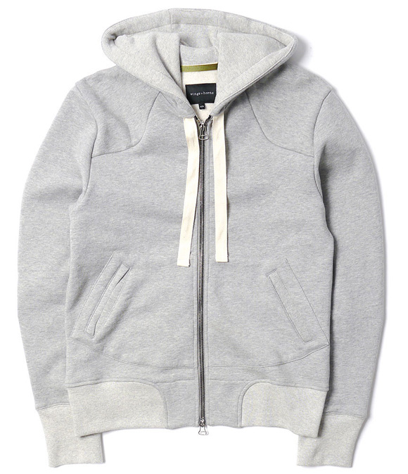 wings + horns Vintage Fleece Hoodie Sweatshirt
