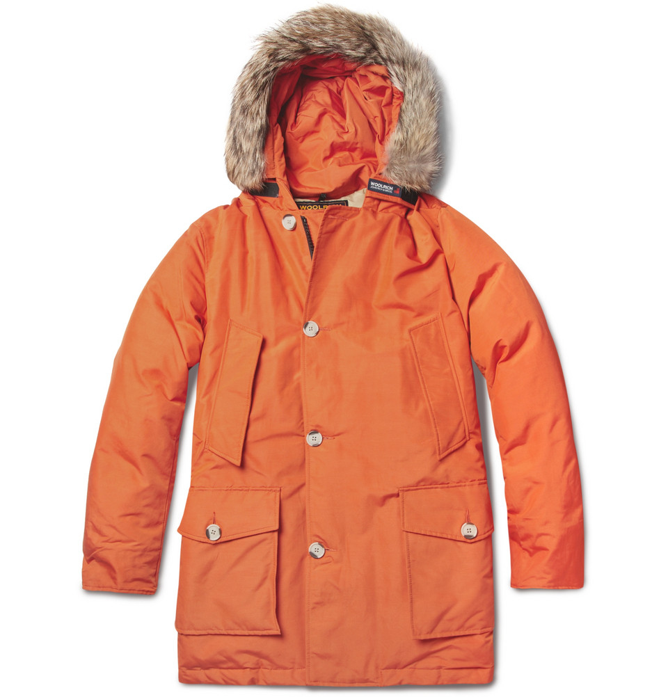 Orange Parka Coat - Coat Nj