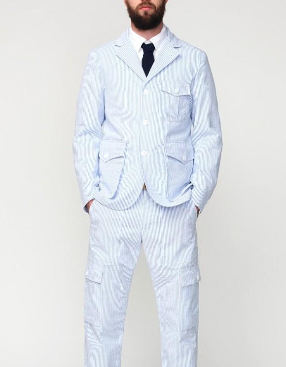 Woolrich Woolen Mills Flight Jacket Blazer Style Seersucker Menswear 1