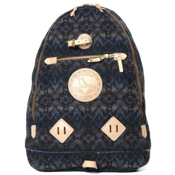 Yuketen Triangle Backpack in Blue Jacquad