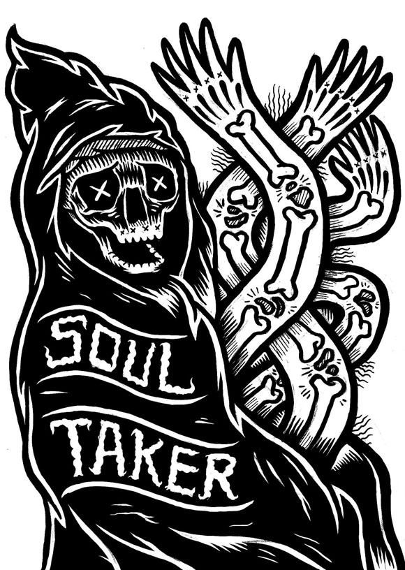 Grim Reaper Art 'Soul Taker' Jack Boulton Artwork