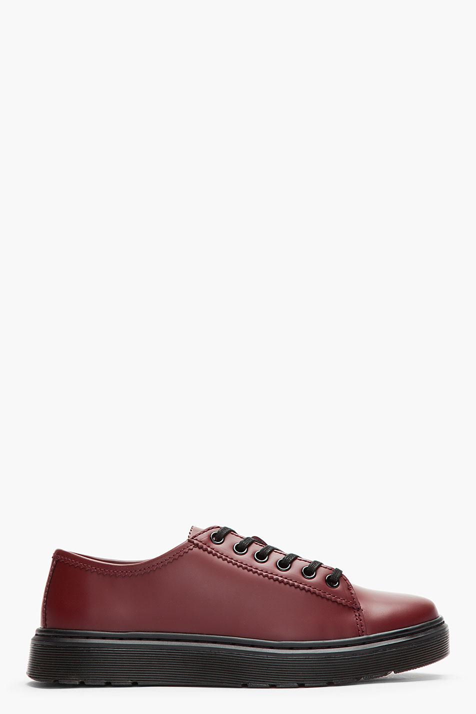 Dr. Martens burgundy sneaker shoe