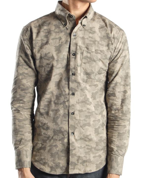 97dd3efc4fe8c3 Grey Camo Print Dress Shirt by Naked   Famous
