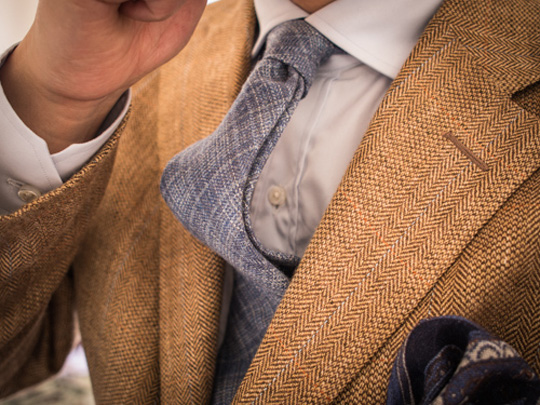 Herringbone Spring Colors Menswear