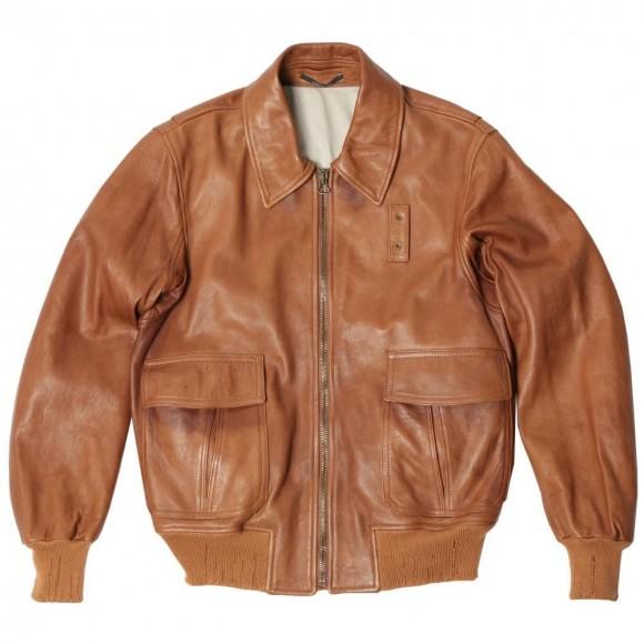 Lambskin leather jacket for men MAison Martin MArgiela Cognac