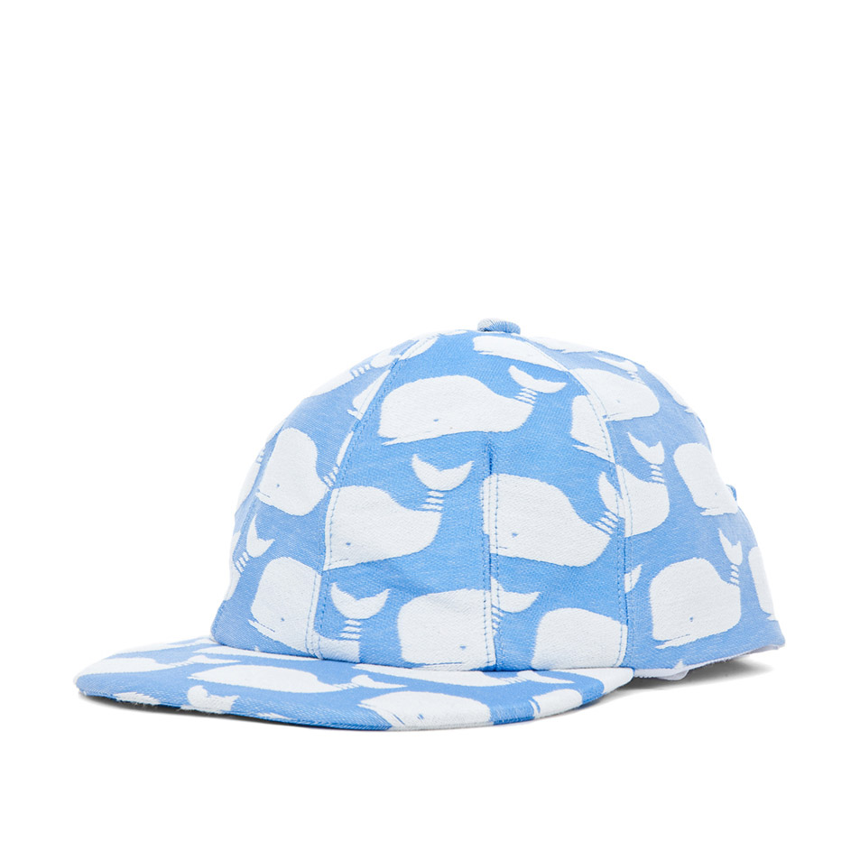 Light Blue Moby Dick whale print Hat - Thom Browne - SOLETOPIA f60476743ba8