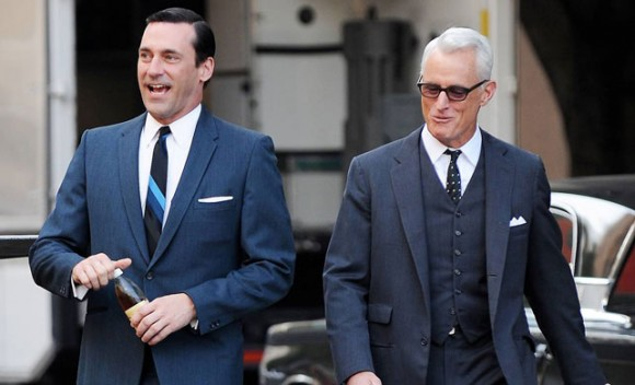 Mad Men Don Draper & Roger Sterling in Suits