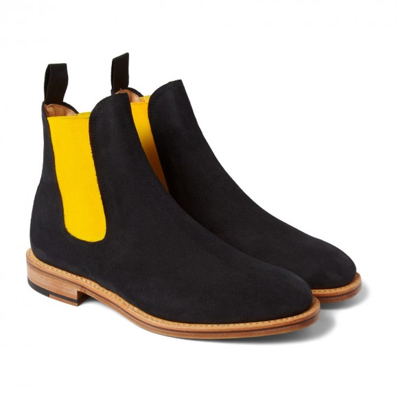 Mark McNairy Suede Yellow Band Chelsea Boot