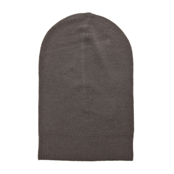 Max Boiled Grey Wool Extract Beanie by Rick Owens