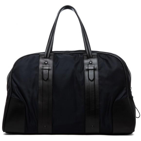 Neil Barrett Black Leather Trim Weekend Bag for Men