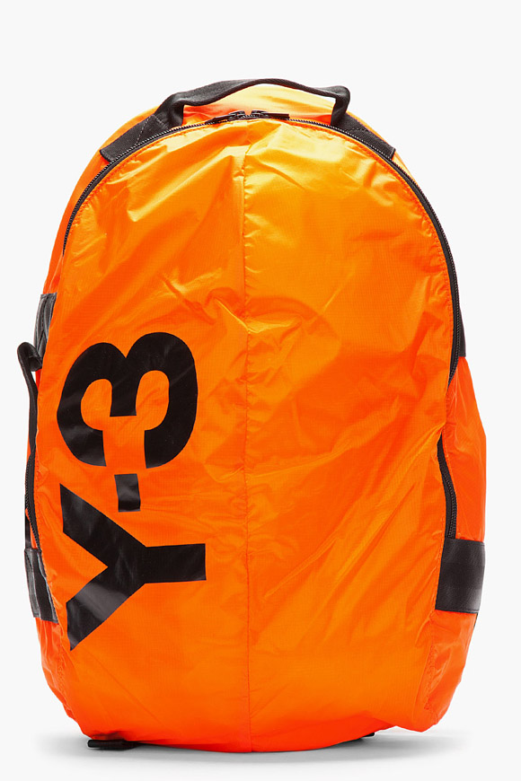 Y-3 Neon Orange Bag for Men