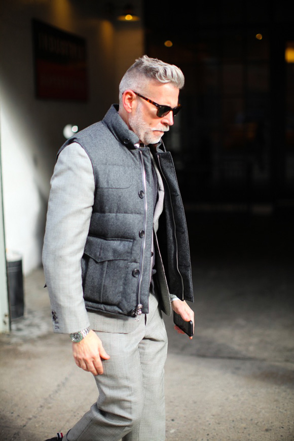 Nick Wooster In Glen Plaid Suit Wool Vest Soletopia