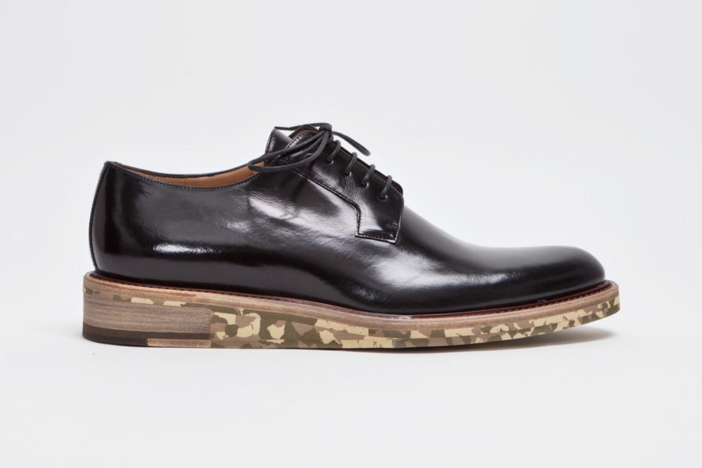 Shiny Leather Derby Dress Shoe + Camo Sole